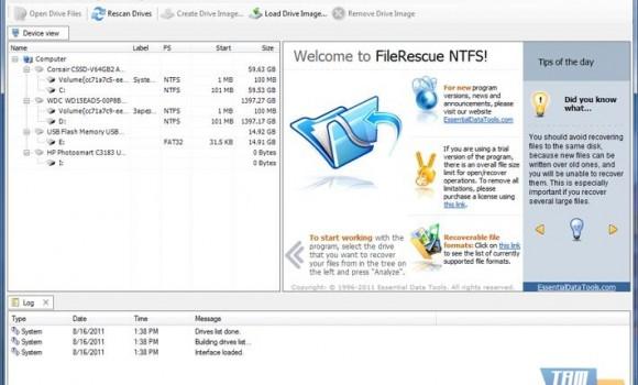 FileRescue NTFS Ekran Görüntüleri - 4