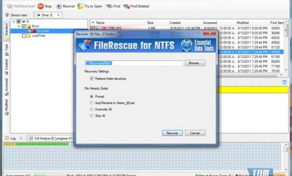 FileRescue NTFS Ekran Görüntüleri - 2