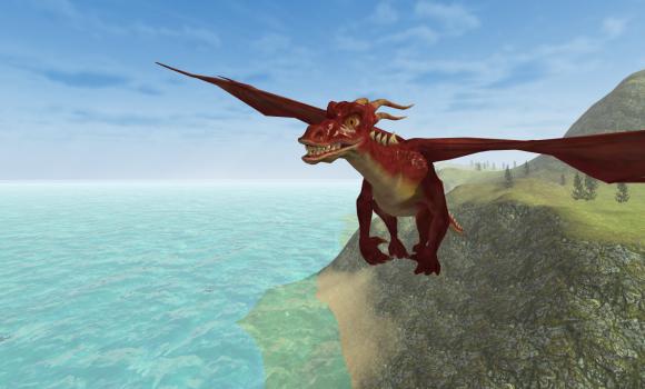 Flying Fire Drake Simulator 3D Ekran Görüntüleri - 4