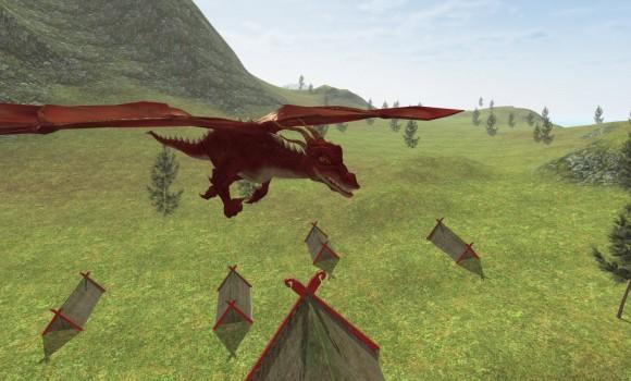 Flying Fire Drake Simulator 3D Ekran Görüntüleri - 3