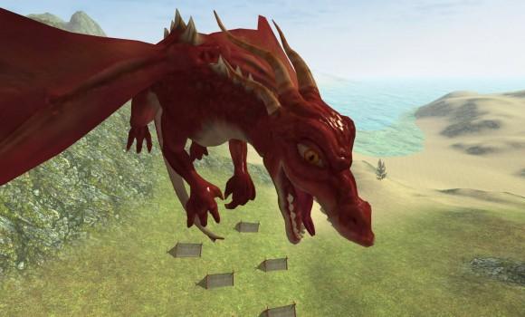 Flying Fire Drake Simulator 3D Ekran Görüntüleri - 2
