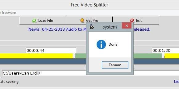 Free Video Splitter Ekran Görüntüleri - 1