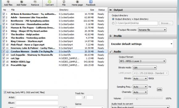 Free WebM to MP3 Converter Ekran Görüntüleri - 4