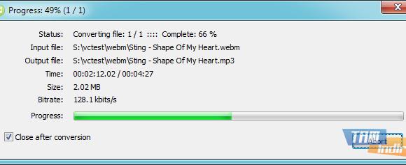 Free WebM to MP3 Converter Ekran Görüntüleri - 2