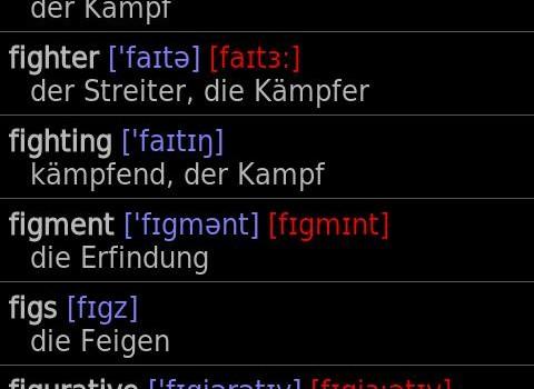 German - English offline dict. Ekran Görüntüleri - 2