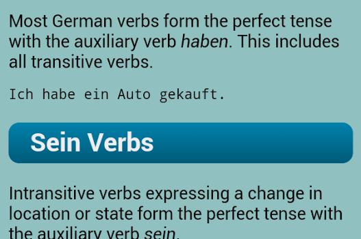 German Verbs Ekran Görüntüleri - 2
