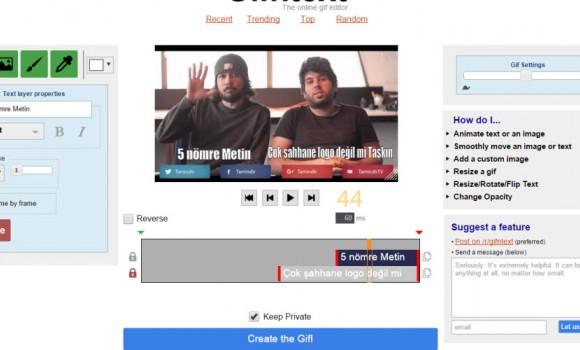 Gifntext Ekran Görüntüleri - 1