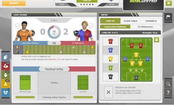 goalunited PRO – football manager for experts Ekran Görüntüleri - 5