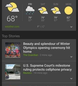 Google Haberler ve Hava Durumu Ekran Görüntüleri - 5