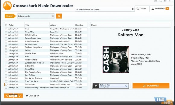 Grooveshark Music Downloader Ekran Görüntüleri - 1