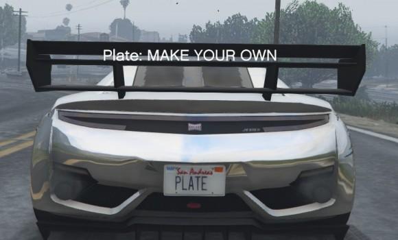 GTA 5 Customize Plate Mod Ekran Görüntüleri - 1