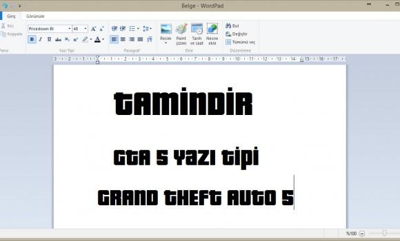 GTA 5 Yazı Tipi Ekran Görüntüleri - 1
