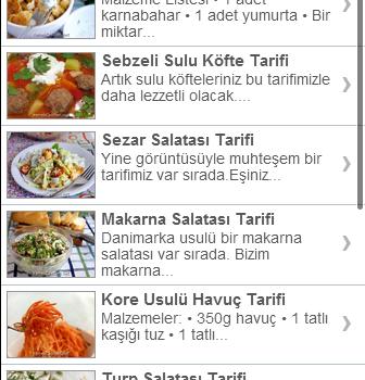 Güncel Yemek Tarifleri Ekran Görüntüleri - 1