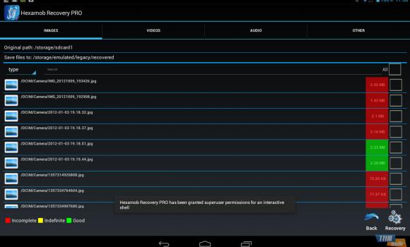 Hexamob Recovery Lite Ekran Görüntüleri - 5