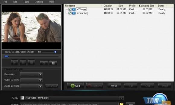 iPad Video Converter Factory Pro Ekran Görüntüleri - 1