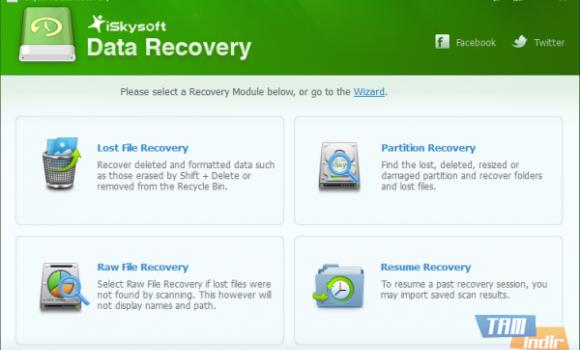iSkysoft Data Recovery Ekran Görüntüleri - 1