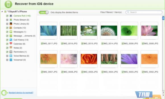 iSkysoft Free iPhone Data Recovery Ekran Görüntüleri - 3