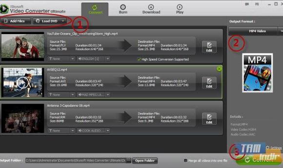 iSkysoft MP4 Video Converter Ekran Görüntüleri - 1