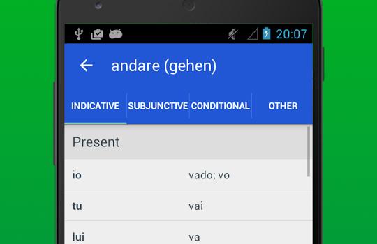 Italian Verb Conjugator Ekran Görüntüleri - 3