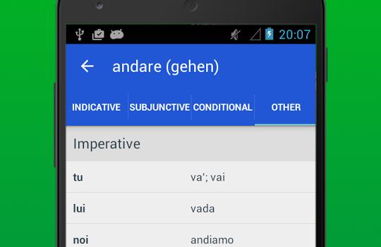 Italian Verb Conjugator Ekran Görüntüleri - 1