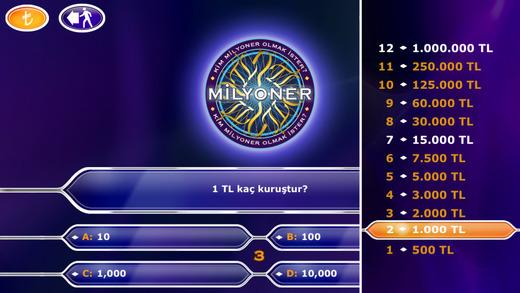 Kim Milyoner Olmak İster Ekran Görüntüleri - 1