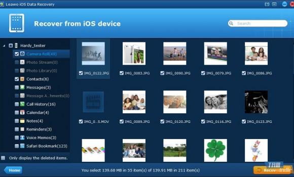 Leawo iPhone Data Recovery Ekran Görüntüleri - 1