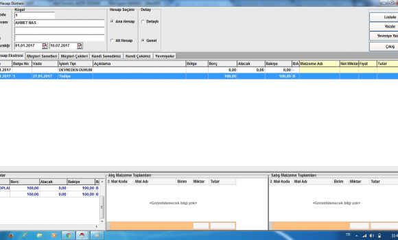 MacroSoft ERP Enterprise Resource Planning Ekran Görüntüleri - 3
