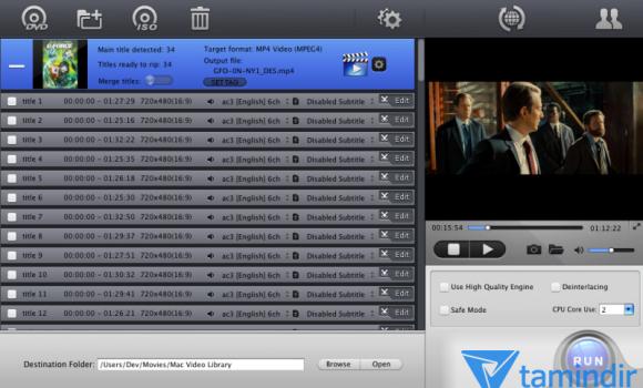 MacX DVD Ripper Mac Free Edition Ekran Görüntüleri - 1