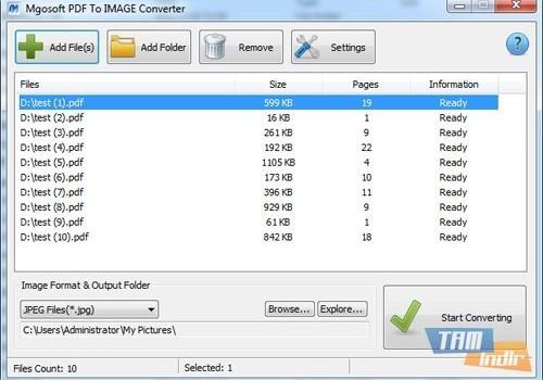 Mgosoft PDF To IMAGE Converter Ekran Görüntüleri - 6