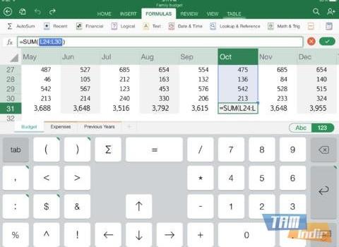Microsoft Excel for iPad Ekran Görüntüleri - 4