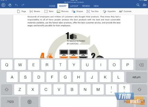 Microsoft Word for iPad Ekran Görüntüleri - 4