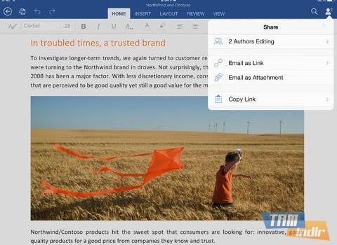 Microsoft Word for iPad Ekran Görüntüleri - 1