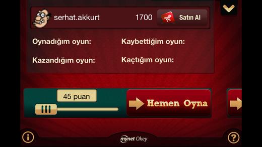 Mynet Okey Ekran Görüntüleri - 1