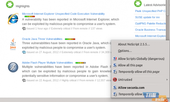 NoScript Ekran Görüntüleri - 7