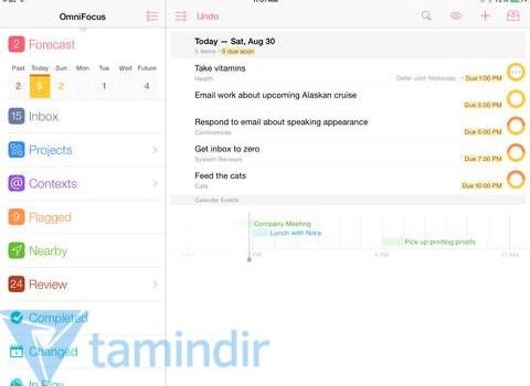 OmniFocus 2 for iPad Ekran Görüntüleri - 5
