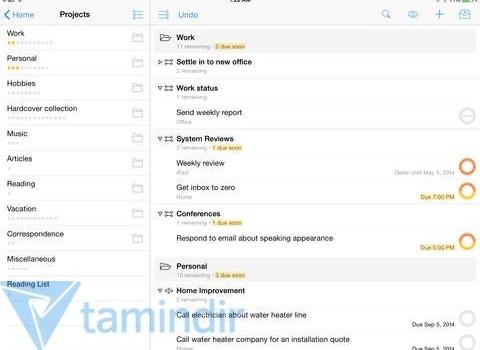 OmniFocus 2 for iPad Ekran Görüntüleri - 4