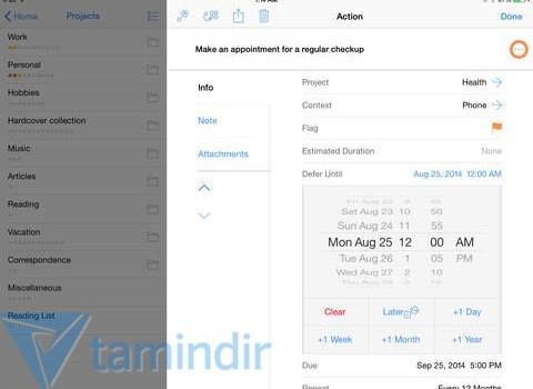 OmniFocus 2 for iPad Ekran Görüntüleri - 3