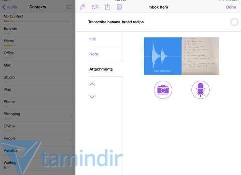 OmniFocus 2 for iPad Ekran Görüntüleri - 1