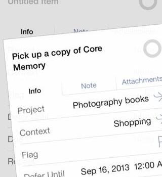 OmniFocus 2 for iPhone Ekran Görüntüleri - 3