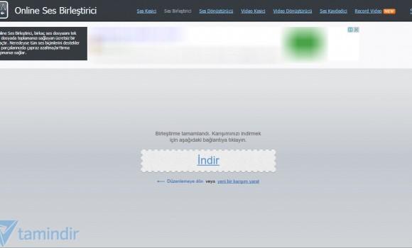 Online Ses Birleştirici Ekran Görüntüleri - 1