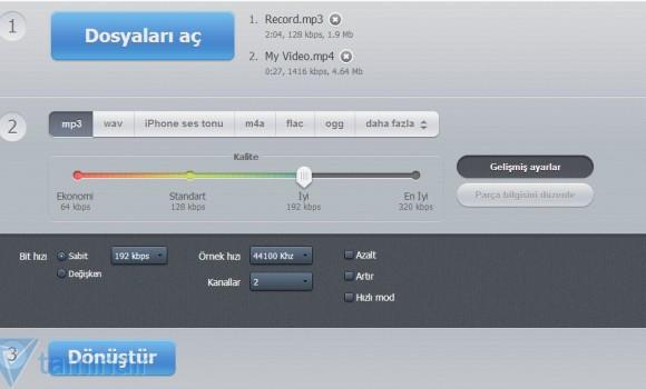 Online Ses Dönüştürücü Ekran Görüntüleri - 1