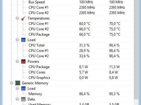 Open Hardware Monitor Ekran Görüntüleri - 2