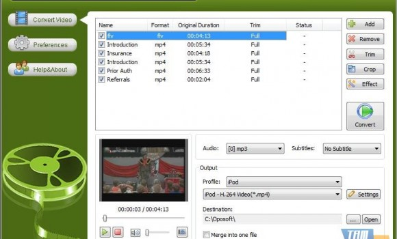 Oposoft YouTube To iPhone Converter Ekran Görüntüleri - 1
