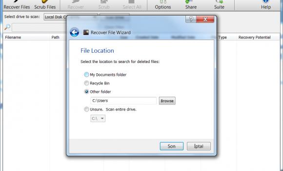 Orion File Recovery Software Ekran Görüntüleri - 2