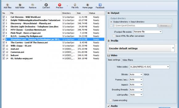 Pazera Free AVI to MP4 Converter Ekran Görüntüleri - 1