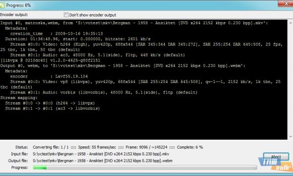 Pazera WebM Converter Ekran Görüntüleri - 2