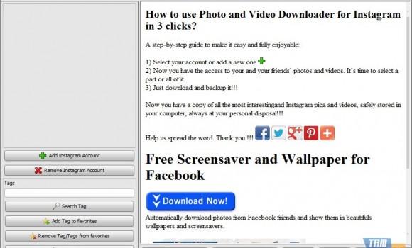 Photo and Video Downloader for Instagram Ekran Görüntüleri - 1