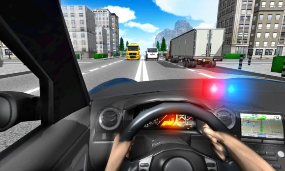 Police Driving In Car Ekran Görüntüleri - 3