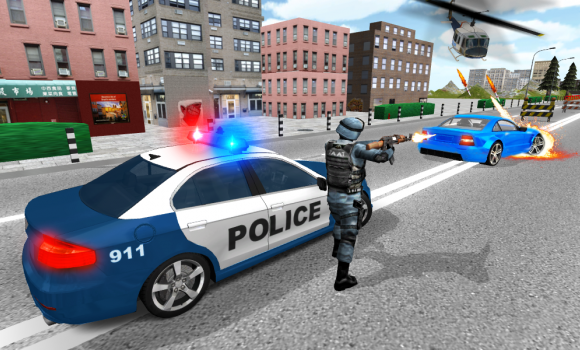 Police Driving In Car Ekran Görüntüleri - 2