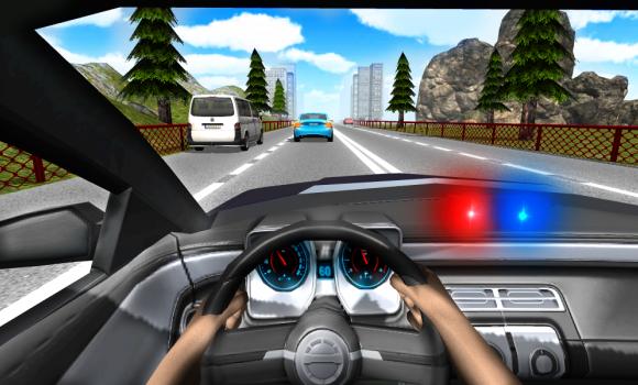 Police Driving In Car Ekran Görüntüleri - 1